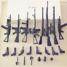 Új 8 db / készlet + 54 kisebb alkatrész, fegyvermodell Tier Rifle & Katonai lapát és RPG M16A4 AK47 G43 M2000 SVT-40 építőelemek