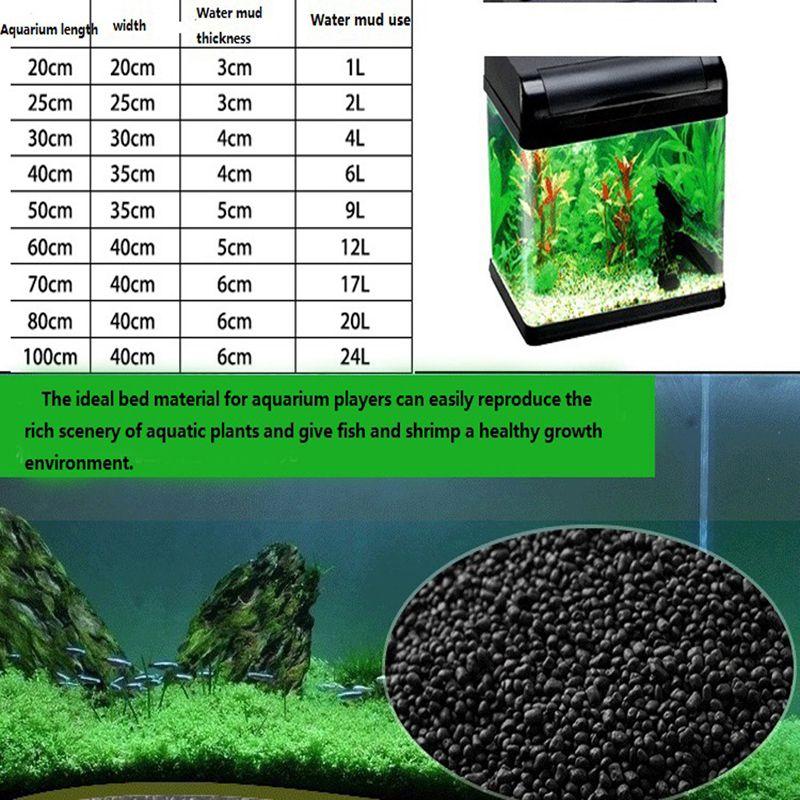 Aquarium Substrate Float Grass Clay Aquarium Soil For Water Plants Clay Safe & Non-Toxic Aquarium Gravel Decoration