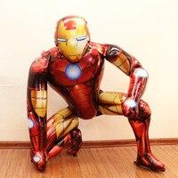 45 inch Duże Gigant Symulacji Stereo Iron Man Superhero Je Folia Balon Powietrza Helem Balon Urodziny Dziecka Hero Strona Dekoracji
