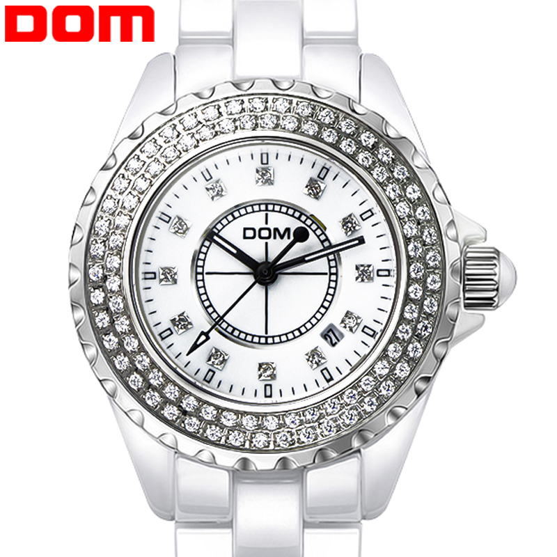 Watch Woman Ceramic Quartz Watches Luxury Top Brand Woman  2016 Waterproof  Dress Clock Wristwatches free shipping T-598-7M2 ka8 01 ch cip комод 3 ящика 2 двери hr шатура rimini cube choco