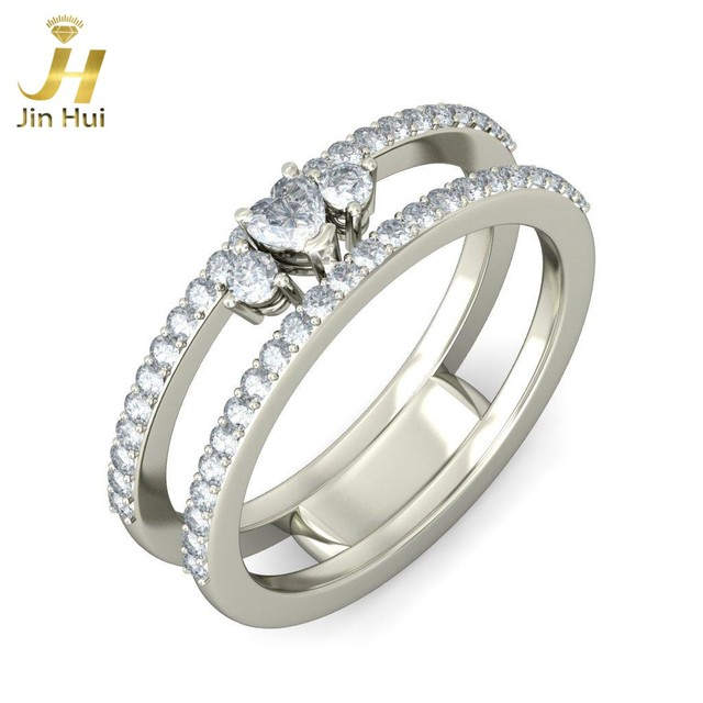 Aliexpress Buy Uni The Liba Ring Solid White Gold 9K