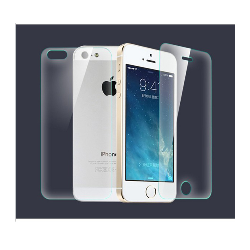 Front & Back (2pcs) High Quality Tempered Glass Premium Real Film - Mobile Phone Accessories and Parts - Photo 2