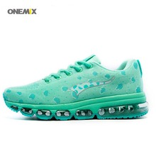 ONEMIX 2017 Weaving flyweave Breathable sport Run sneaker Women's athletic coach elite Running woman air cushion sneakers 1183