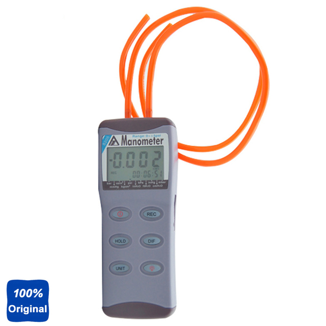 Digital Manometer Gauge Measure Differential Pressure Tester AZ-8205