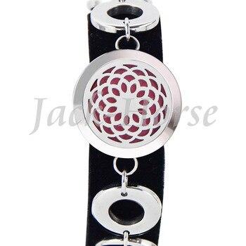 Stainless Steel Essential Oil Diffuser Bracelet Perfume bracelet Aromatherapy Bracelet  25mm Locket Bracelet