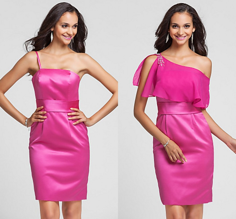 Online get cheap fuchsia plus size bridesmaid dress aliexpress chiffon bridesmaid dress 2016 new arrival fahion fuchsia plus sizes sheathcolumn one shoulder wedding ombrellifo Images