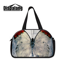 aace915ef6d2 Dispalang 3D lifelike butterfly women large travel luggage tote bag female  travelling duffle bags with independent