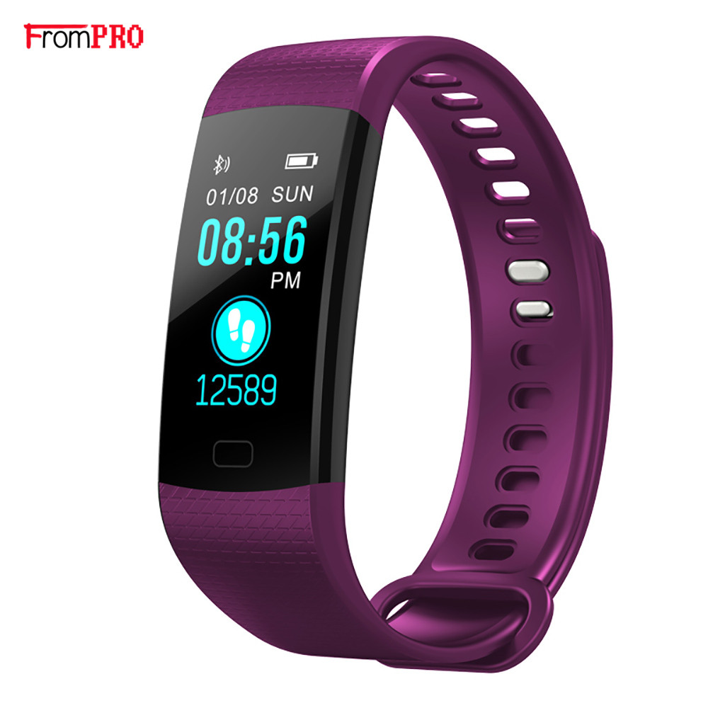 Smart Bracelet Y5 Color Screen Man Bluetooth Wristwatch Women Sport Fitness Track Pedometer Hear Rate Blood Pressure Monitor