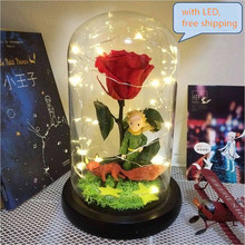Anime figure The little Prince rose flower Valentine's gift for girlfriend kids toys home decoration Free shipping все цены