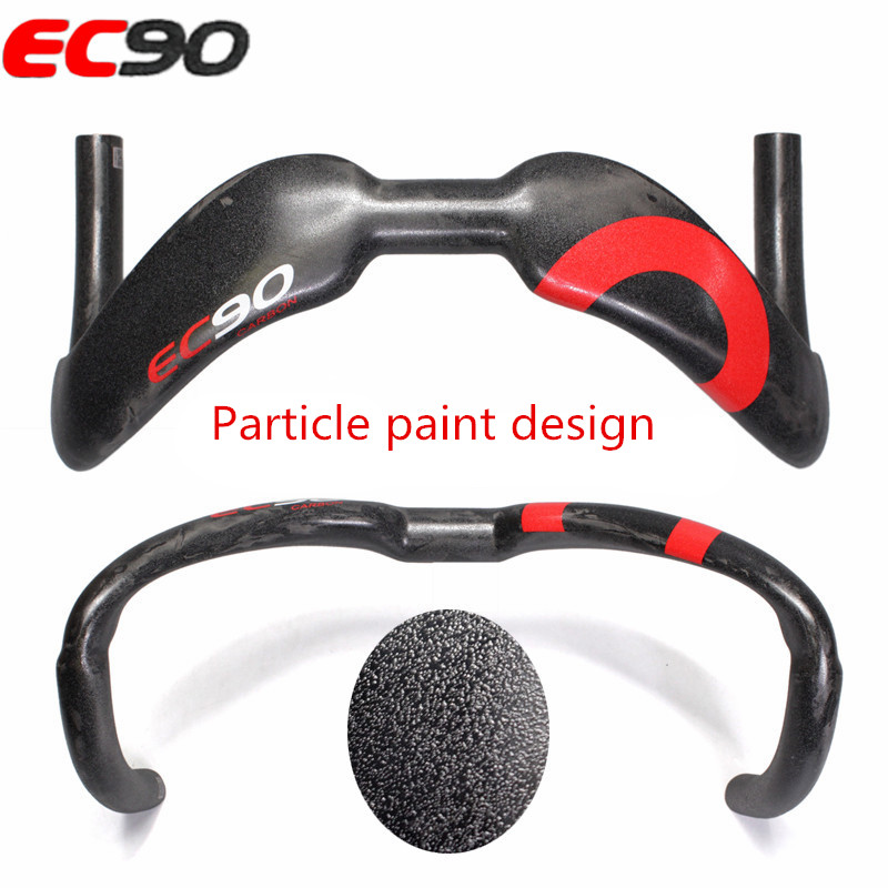 2017 EC90 New design Full carbon fiber TT Bicycle handlebar road bike handle Dead fly bike Handlebar Site 375 380MM UD Granules fouriers mtb handlebar hb mb008 mountain bicycle handlebar ud carbon fiber bike handlebars 31 8x750mm