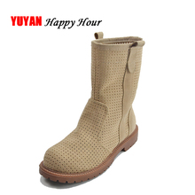 New 2017 Spring Summer Shoes Women Summer Boots Breathable Fashion Women's Boots Ladies Brand Ankle Boots Thick Sole ZH2307