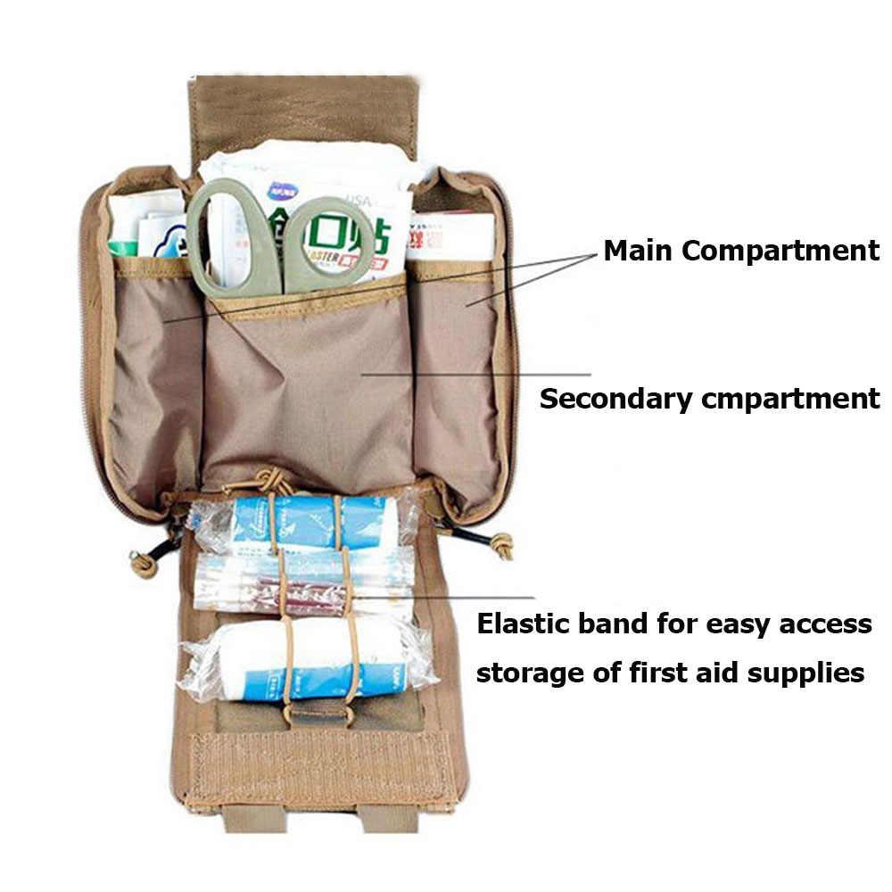 Tático Bolsa MOLLE Medic Rip Away Vazia Médica Trauma Kits Saco de Sobrevivência de Emergência Engrenagem Para Colete Tático Mochila Cinto