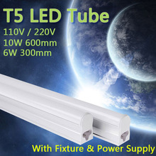 PVC Plastic 10W 6W LED Tube T5 Light 110V 220V 240V 55cm 30cm led T5 lamp led wall lamp Warm Cold White led fluorescent T5 neon