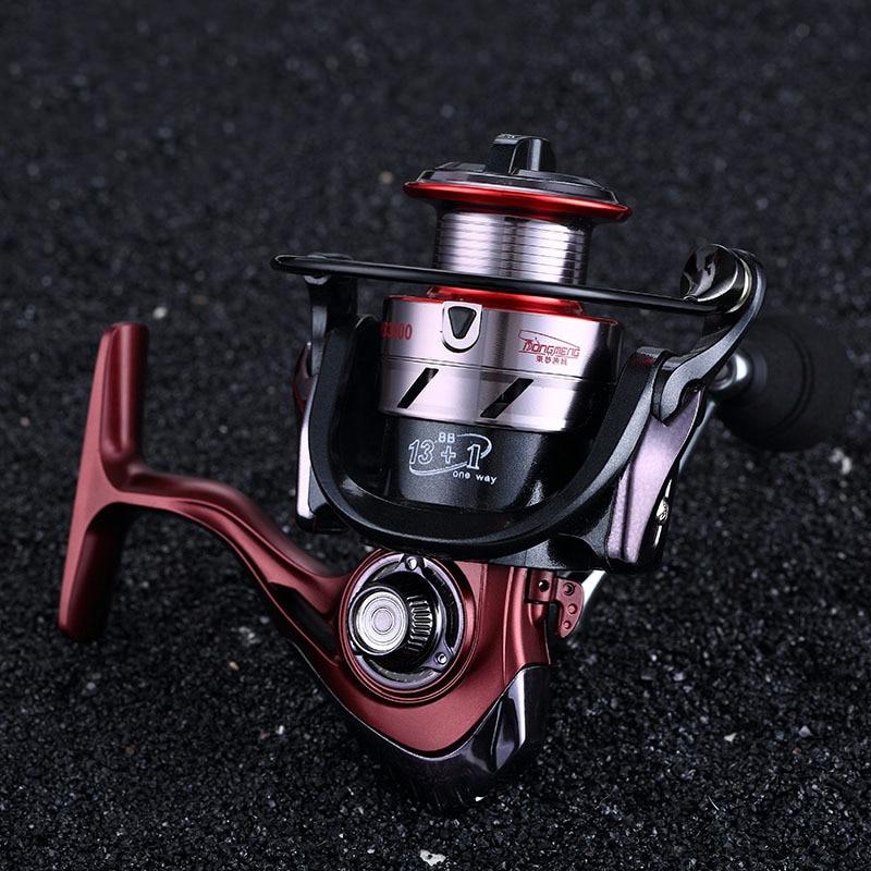 High Strength Spinning Fishing Wheel BE1000-7000 Big Fish 13+1BB All Metal Head Arm Fishing Reel Boat Sea Fishing Tackle