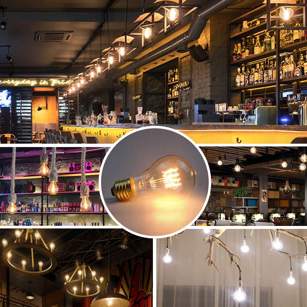 1Pcs Dimmable Antique Retro Edison Incandescent LED lamp 110V E27 2W 4W 6W COB Filament Glass Bulb For Home Chandelier Lighting