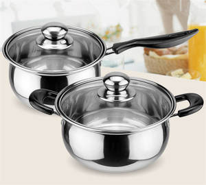 Stainless Steel pot Double Bottom Soup Pot Nonmagnetic Cooking Multi purpose Cookware Non stick Pan induction cooker used pot