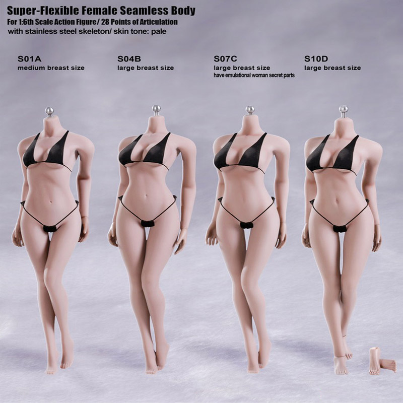 US TBLeague S21B Female Figure Suntan Body Model 1//6 Phicen Stainless Skeleton