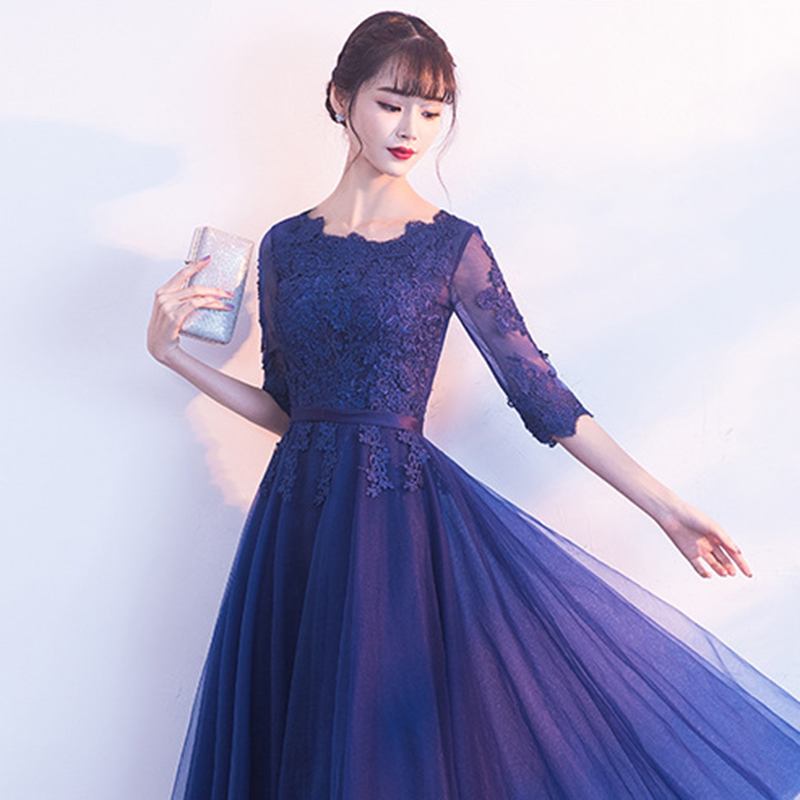 Image 4 - DongCMY 2019 New Arrival Short Lace Sexy Prom Dresses Half Sleeve Vestidos Evening Party Gowns-in Prom Dresses from Weddings & Events
