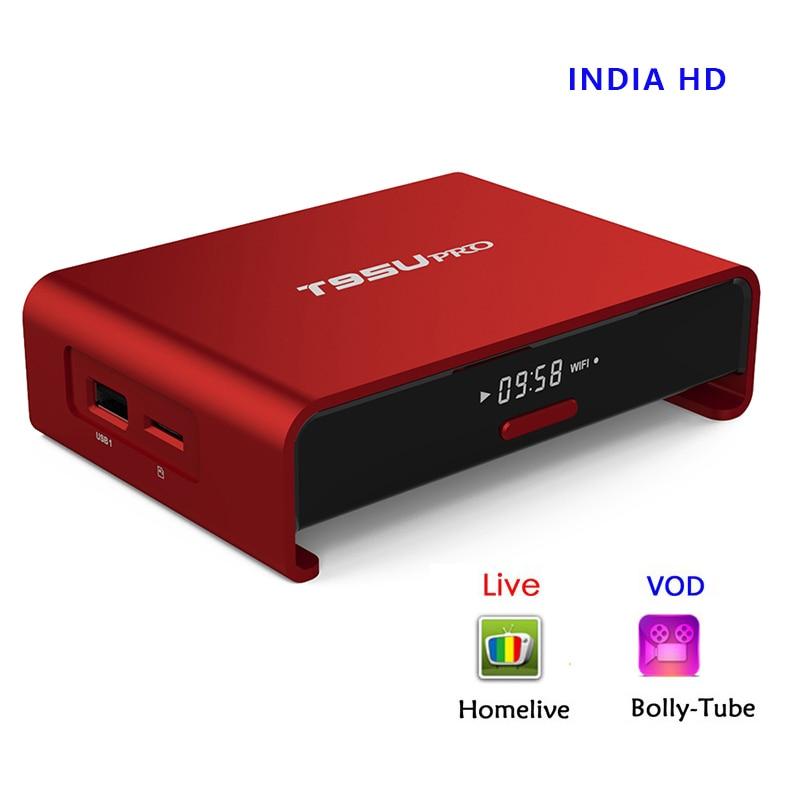 2GB/16GB T95U pro Amlogic S912 Octa core Android 7.1 India IPTV Box Homelive Pack LiveHD Channels Hindi English Tamil KODI load it8728f gb