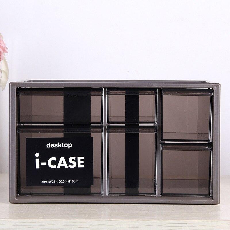 Type de tiroir boîte de rangement de cosmétiques et multi-fonction maison bureau bureau débris papeterie boîtes de rangement en plastique Rack de stockage