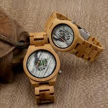 Бобо Птица H17 H18 Моды Ручной Работы, Деревянные Часы для Любителей Кварцевые часы для Женщин Мужчины Бамбук Ремешок Ремешок в Подарочной Коробке Relógio