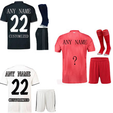The European 2018-19Men's Customized Name Numbers T-shirt set Top AAA Quality Football Team t shirt men Free Shipping