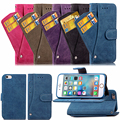 For iPhone 6 6S 6 Plus 6s Plus Phone Case New Style Rotary Card Sleeve Flip Nubuck Leather Wallet Phone Case