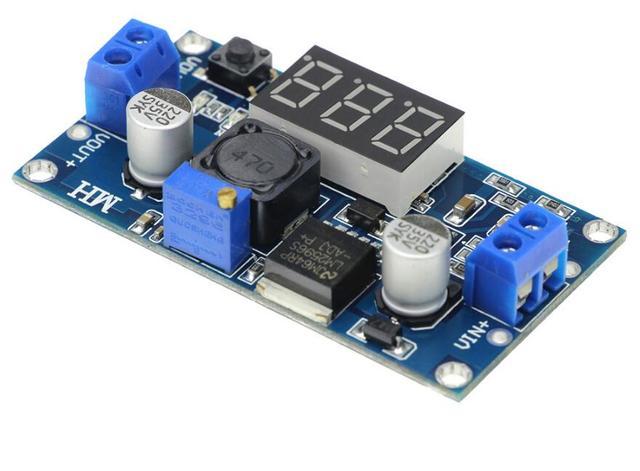 30 قطعة LM2596S DC DC قابل للتعديل موفر طاقة تنظيمي وحدة LM2596 الجهد المنظم مع شاشة ديجيتال الفولتميتر