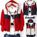 2013 новый мужской с капюшоном Мода повседневная известный бренд xxxxxl мужская одежда мужчины осень зима капюшоном теплый кардиган с начесом