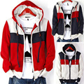 2013 new men's hooded Fashion casual famous brand xxxxxl mens clothing men autumn winter hooded warm cardigan with fleece