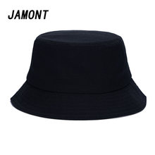 ab70ec27 Solid Color Panama Bucket Hats For Women Men Spring Summer Fisherman Cap  Sunscreen Simple Hat(