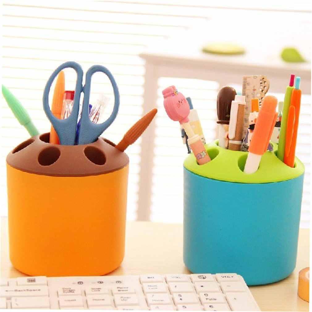 Kreatywny porowaty uchwyt na szczoteczki i pastę do zębów wielofunkcyjny pulpit porowate szczoteczka do zębów rurki domu długopis biurowy uchwyt na