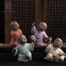 Porcelain Dance Small Monk Tea Pet Accessories Tray Ornaments Decor