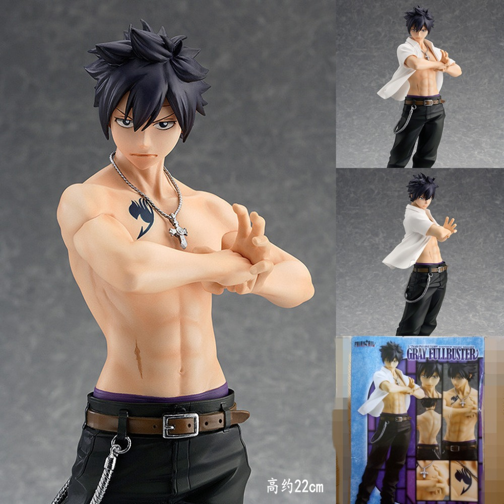 Free shipping Anime Fairy Tail Gray Fullbuster GSC the 2nd Ver. PVC Action Figure Collectible Toy 9 22CM Baby gift With box