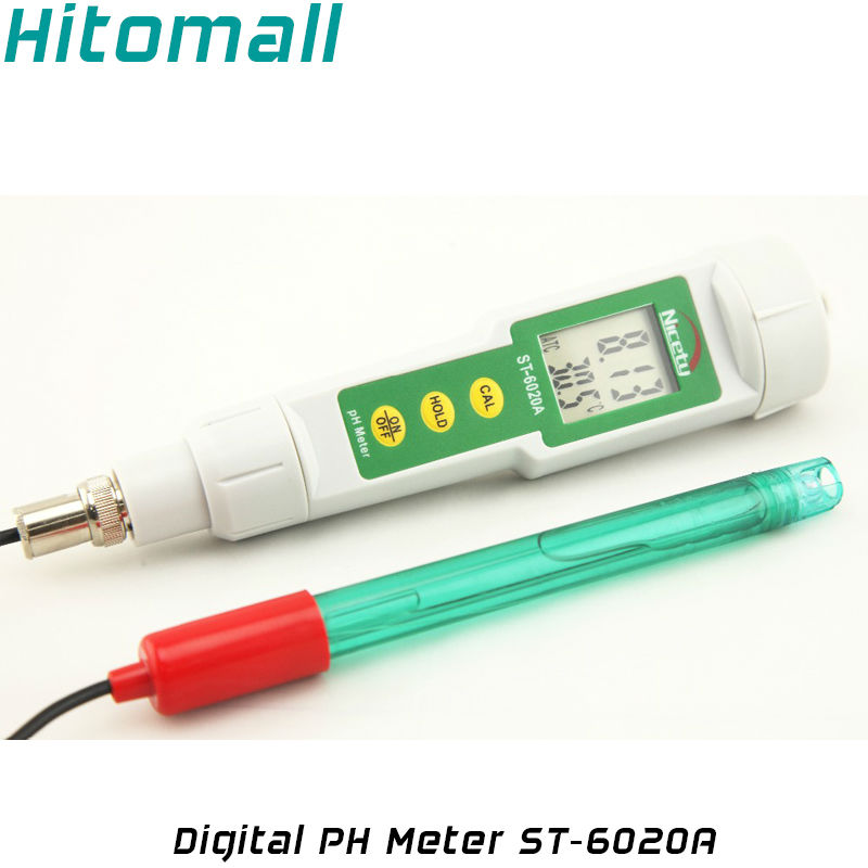 Digital PH Tester Thermometer External PH Electrode Replaceable Water Tester Probe PH Meter ST-6020A / CT-6020A
