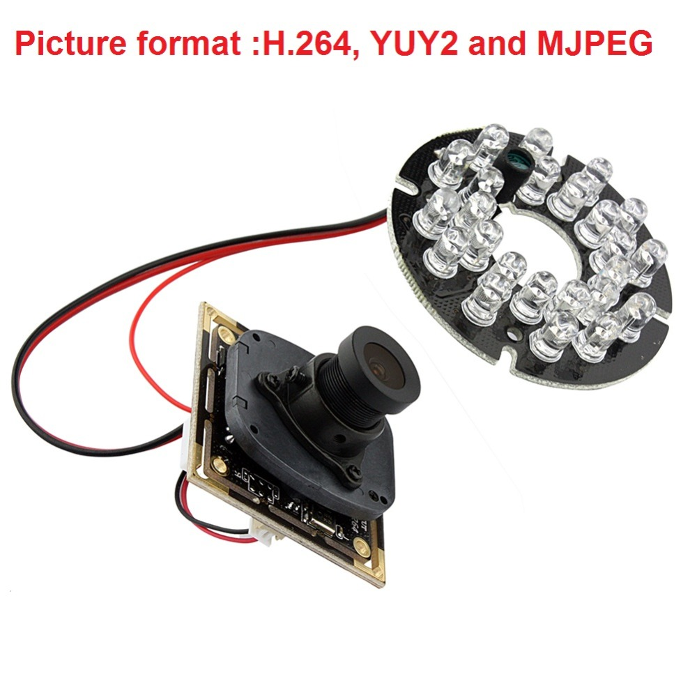 720P HD OV9712 CMOS free driver H.264 infrared IR usb camera module endoscope with MIC Microphone