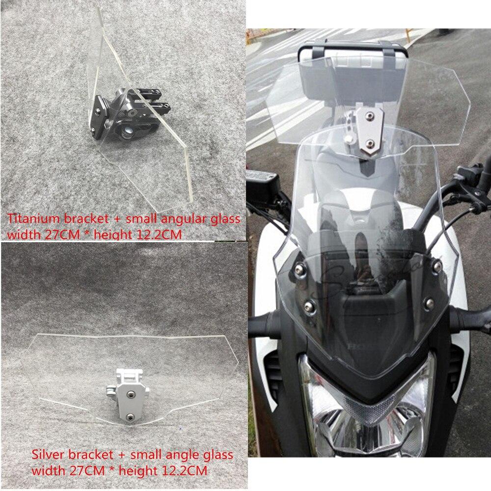 Modificado moto pára brisa ajustável universal da