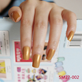 2016 24pcs Hot sell fashion Long section Square head candy false nails decoration Pearl gold  M002