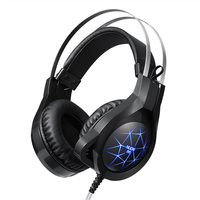 NUOXI Gaming Kopfhörer für Handy Computer PC 3,5mm Verdrahtete Kopfhörer mit Mikrofon Led-lampe Noise Cancelling-kopfhörer
