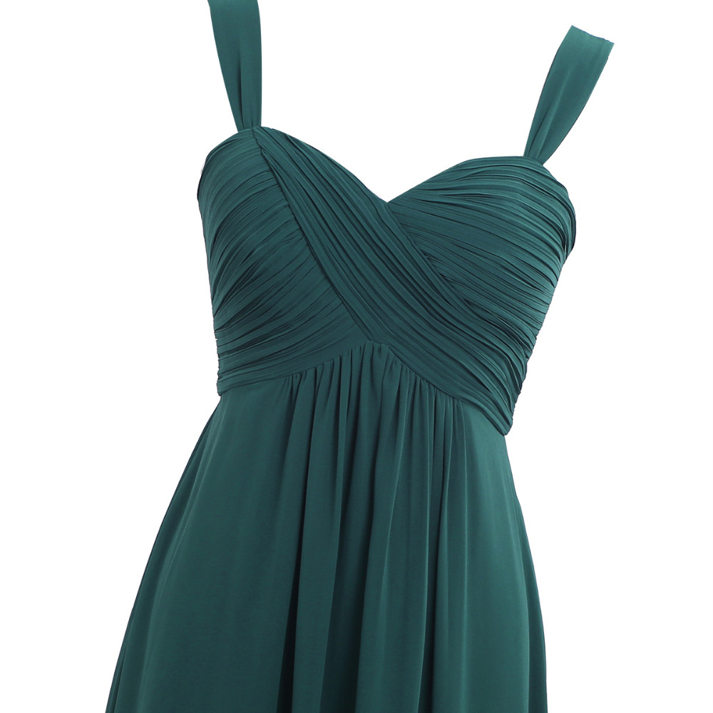 4 Color Women Ladies Chiffon Pleated Formal Dress for Birthday Party Long Evening Prom Gown 18 Summer Hot Dresses for Womens 5