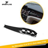 Автомобиль Центральной Консоли панель кондиционирования воздуха украшения из углеродного волокна для Mercedes Benz X156 CLA W117 GLA X156 2013 18