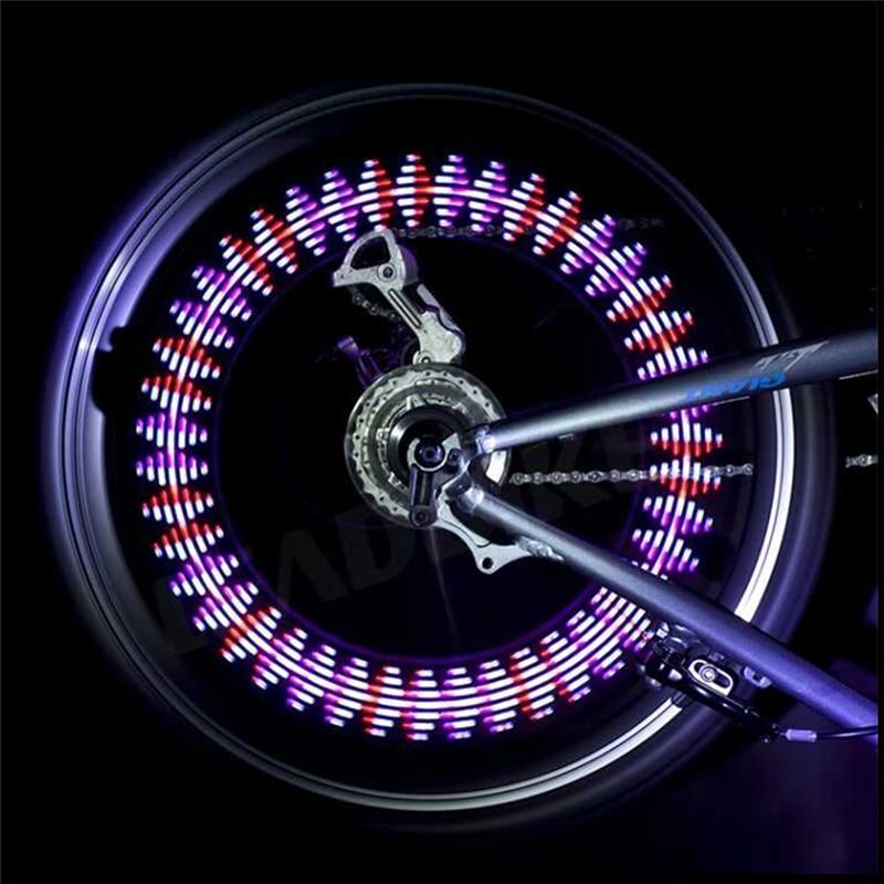 Donsung красочные Велосипедное освещение Велоспорт колеса спиц 14LED 30 узор Водонепроницаемый Прямая доставка велосипед Аксессуары Велосипедное освещение