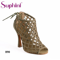 Custom Service Private Label Suphini Salsa Latin Dance Shoes Beautiful Woman Black Salsa Dance Shoes Free Shipping