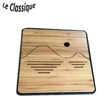 Прямоугольный легкий чайный лоток из бамбука + ABS, черный / белый 2 цвета для доступных