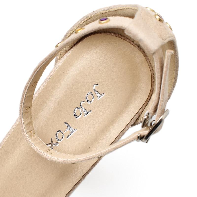 4dd425b67149b4 JOJOFOX Drop Shipping Summer Sandals Shoes Women Thick Heel ...
