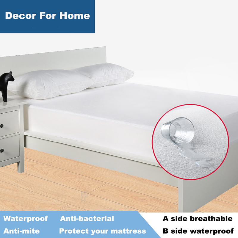 Size 150X200cm Terry Waterproof Mattress Protector <font><b>Cover</b></font> For <font><b>Bed</b></font> Bug Suit For 16 Mattress Size