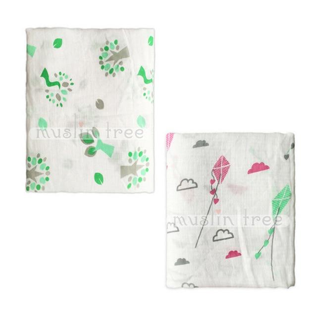 120cm120cm Newborn Baby Swaddling Muslin Bamboo Fiber Infant Bath Towel Baby Blankets Wrap Swaddle Summer 2 Layers
