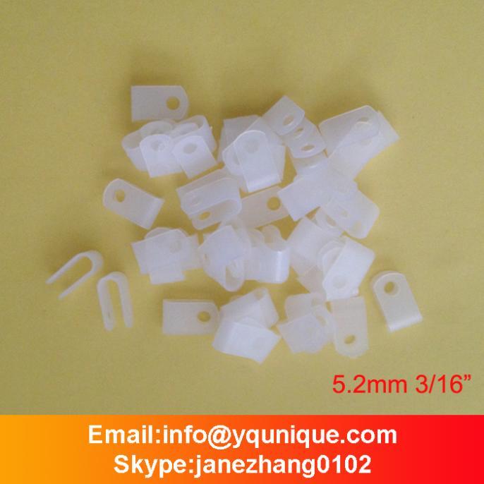 Various Size 3/16 100pcs White Nylon Cable Clamp Car Audio Wire Clip Hose Mounts