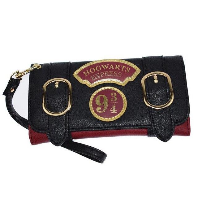 4fa4d6f968648f MaDonNo Harry Potter Hogwarts Express 9 3/4 Platform Vintage Long Wallet for  Women With