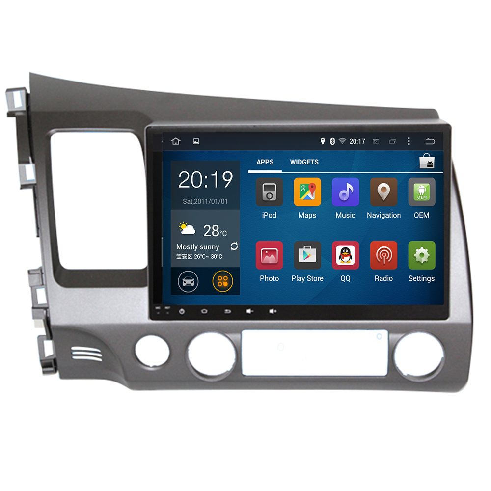 10,2 ''<font><b>Android</b></font> 9.0 4324G Auto DVD Player GPS Navigation System Media <font><b>Stereo</b></font> Radio für <font><b>Honda</b></font> <font><b>Civic</b></font> 2006-2011 sat Audio Video USB image